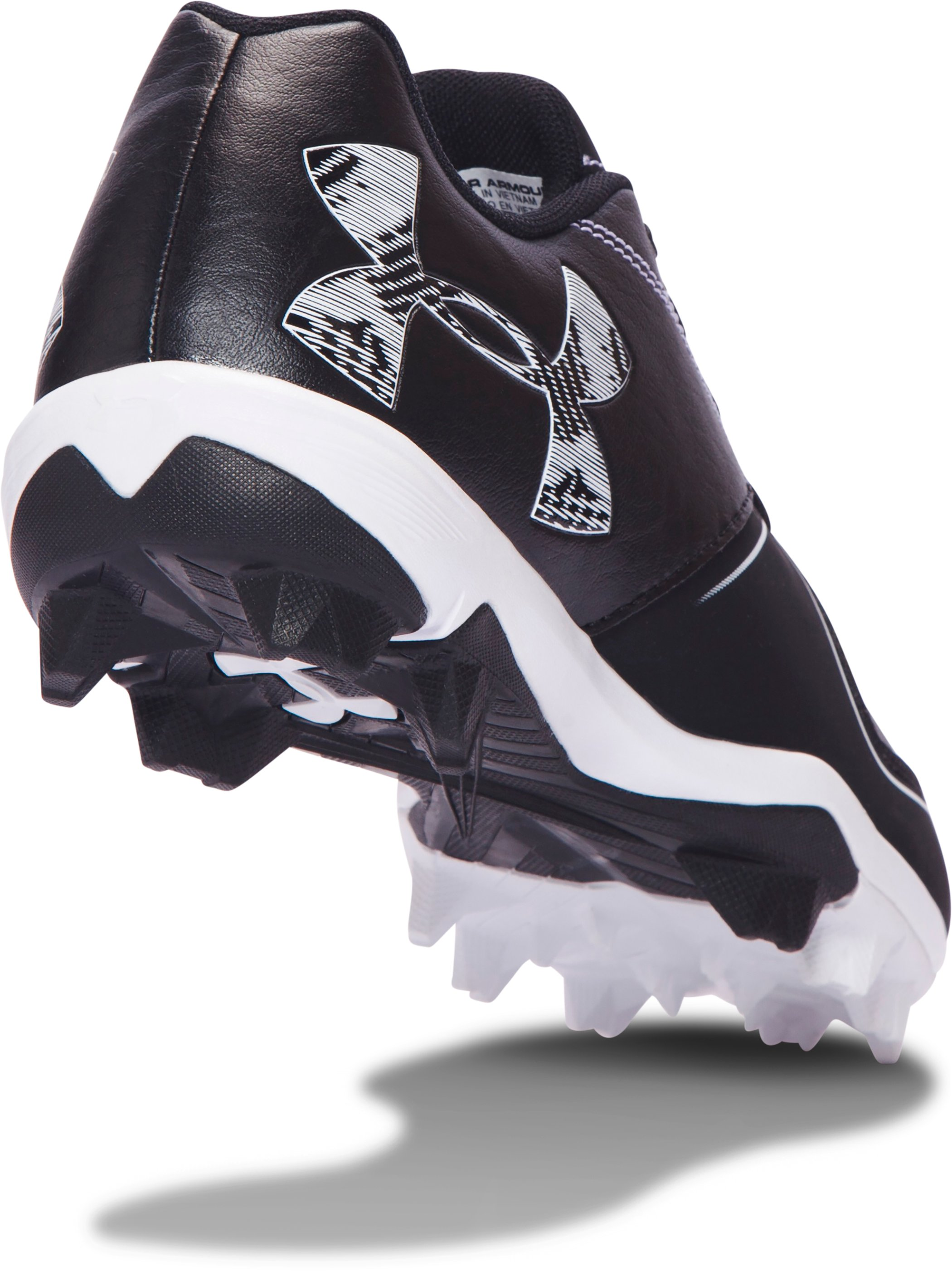Women's UA Glyde RM Softball Cleats, Black , undefined