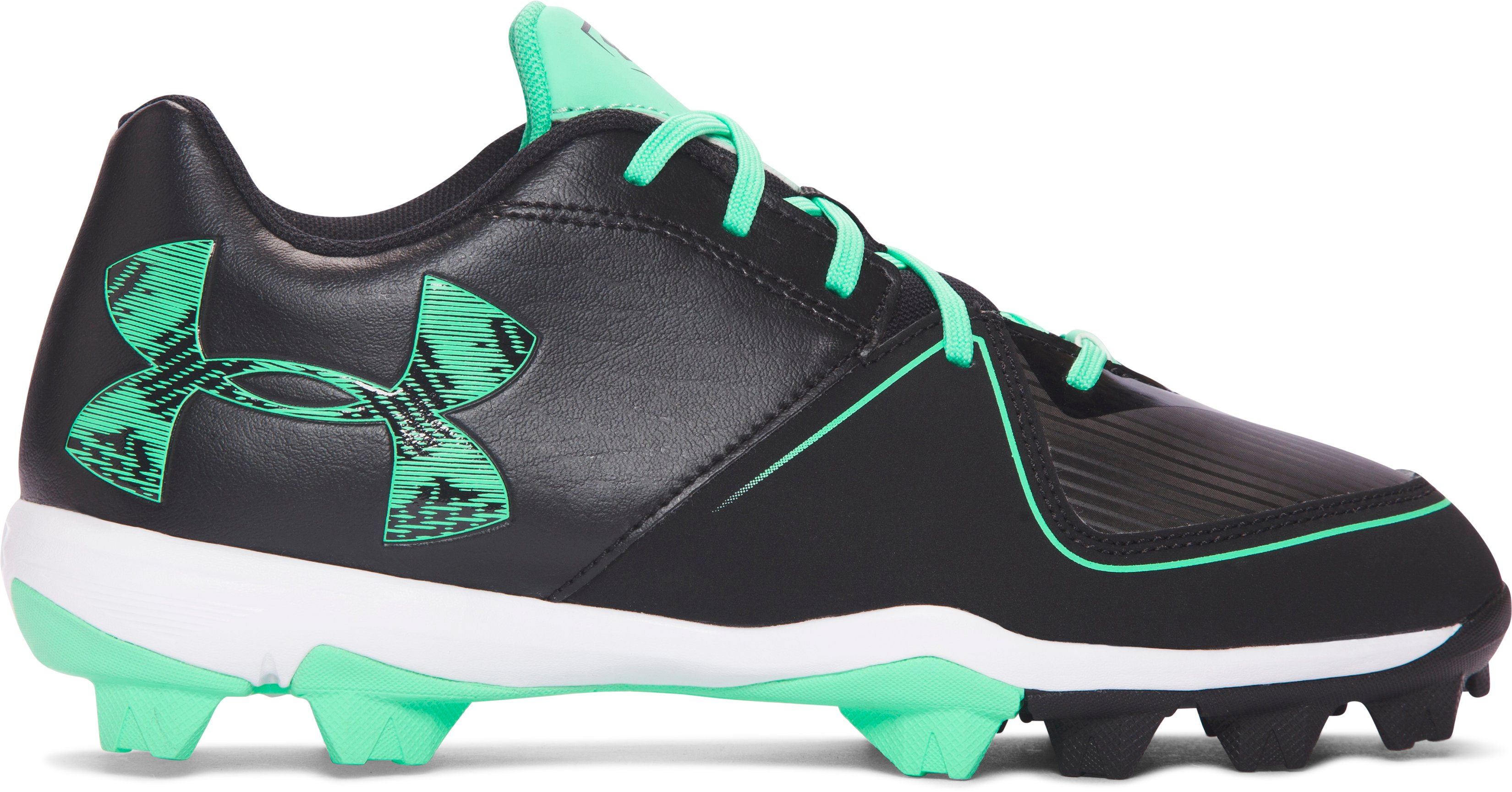 Women's UA Glyde RM Softball Cleats, Black ,
