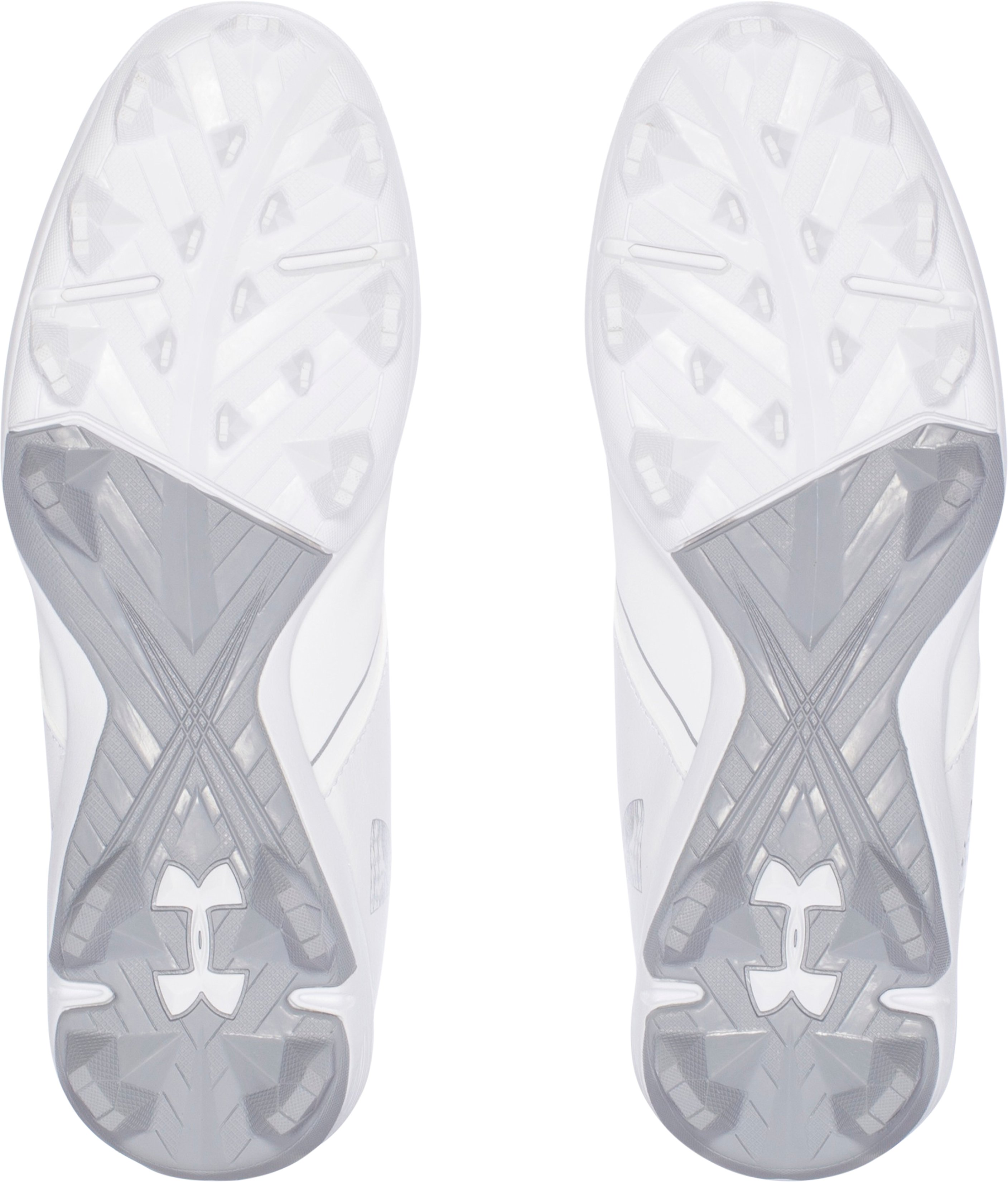 Women's UA Glyde RM Softball Cleats, White,