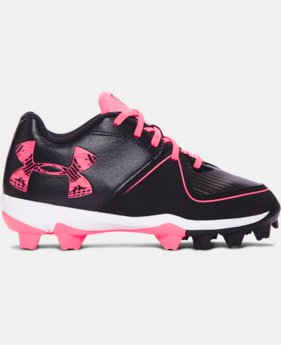 New Arrival Girls' UA Glyde RM Jr. Softball Cleats   $34.99