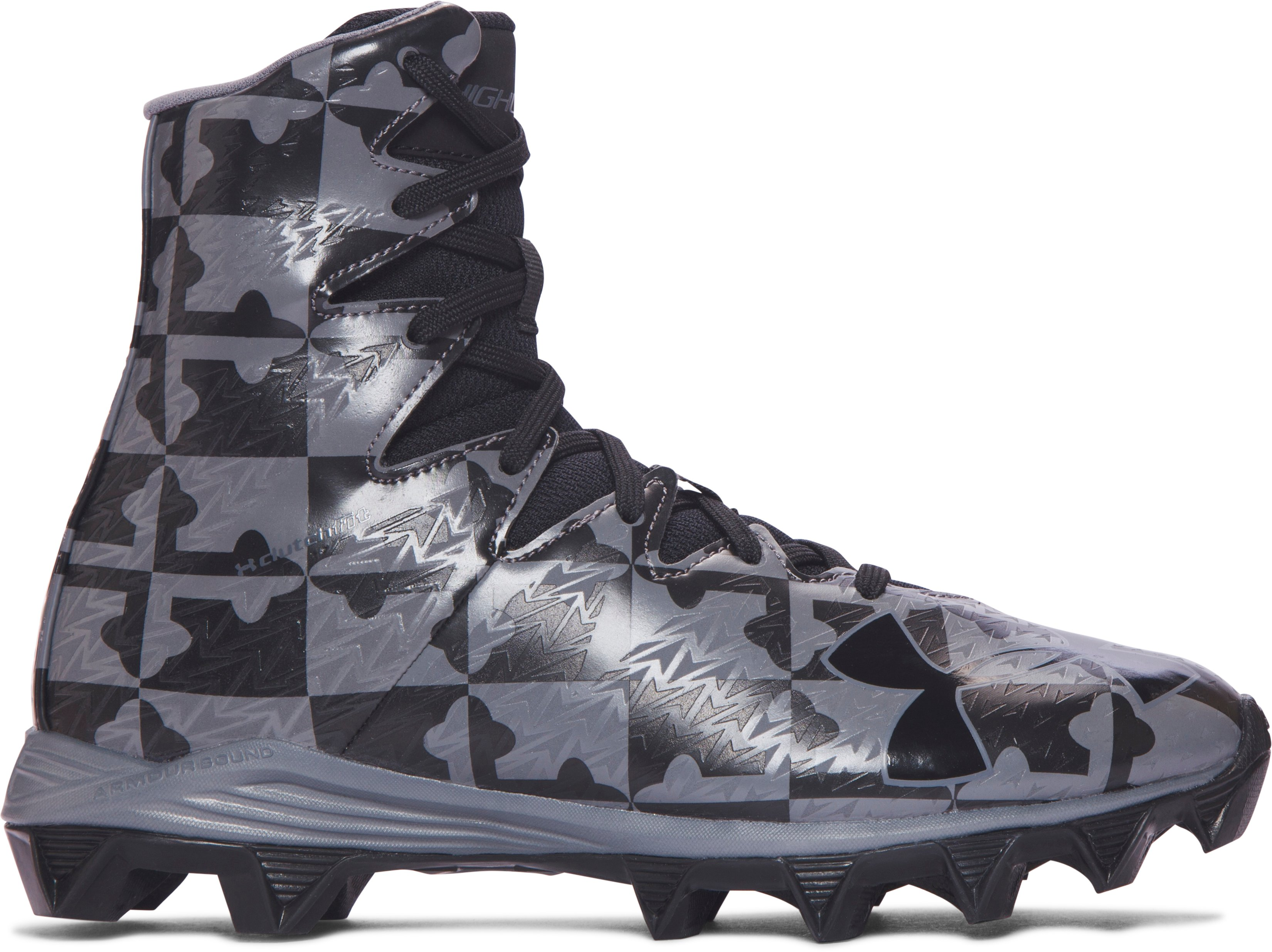 Boys' UA Highlight RM Jr. Lacrosse Cleats, Black , undefined