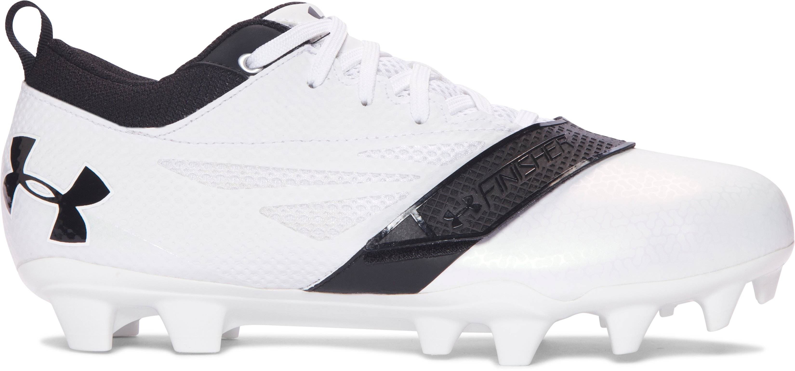 Women's UA Finisher MC Lacrosse Cleats, White, undefined