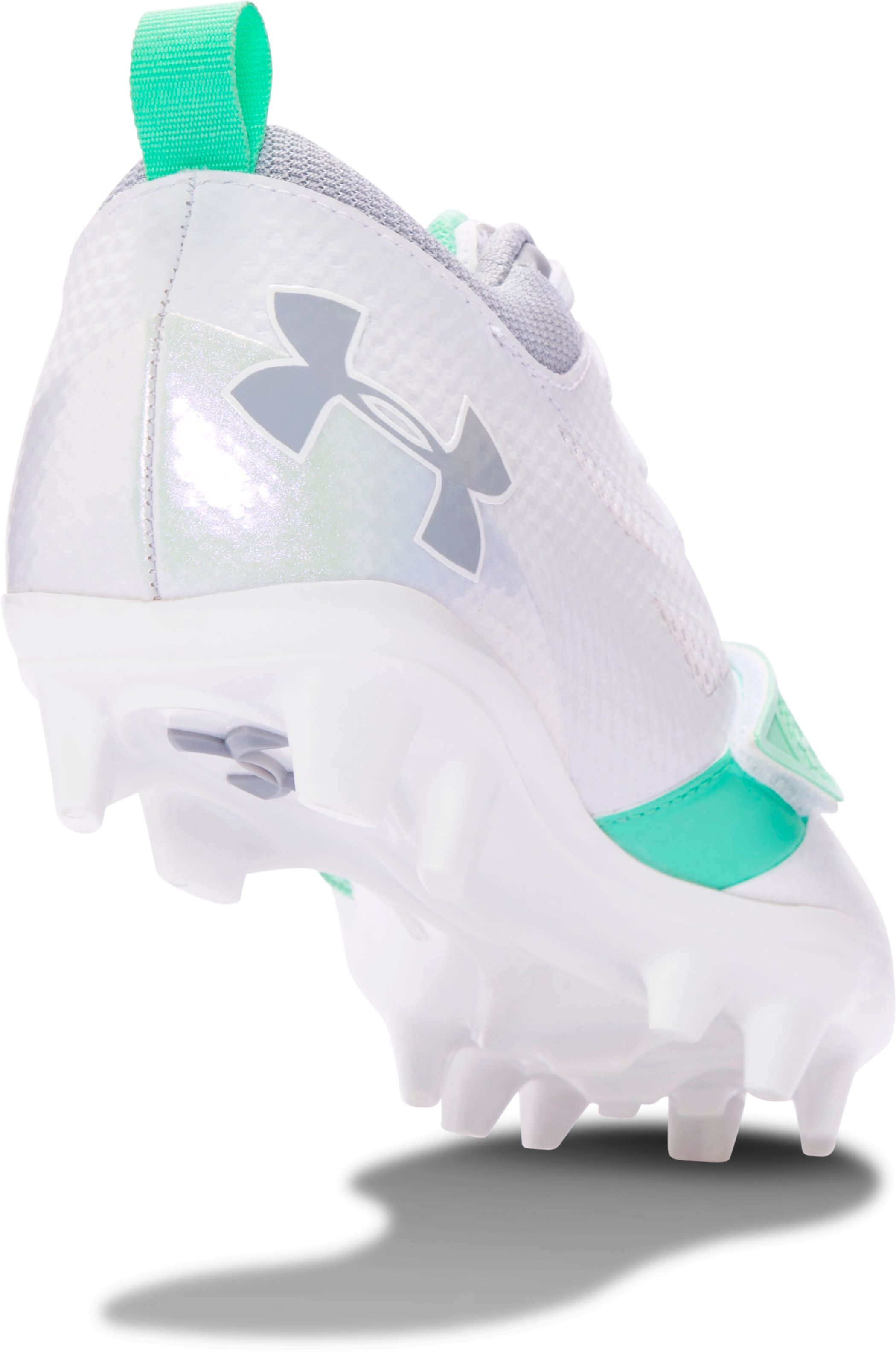 Women's UA Finisher MC Lacrosse Cleats, White,
