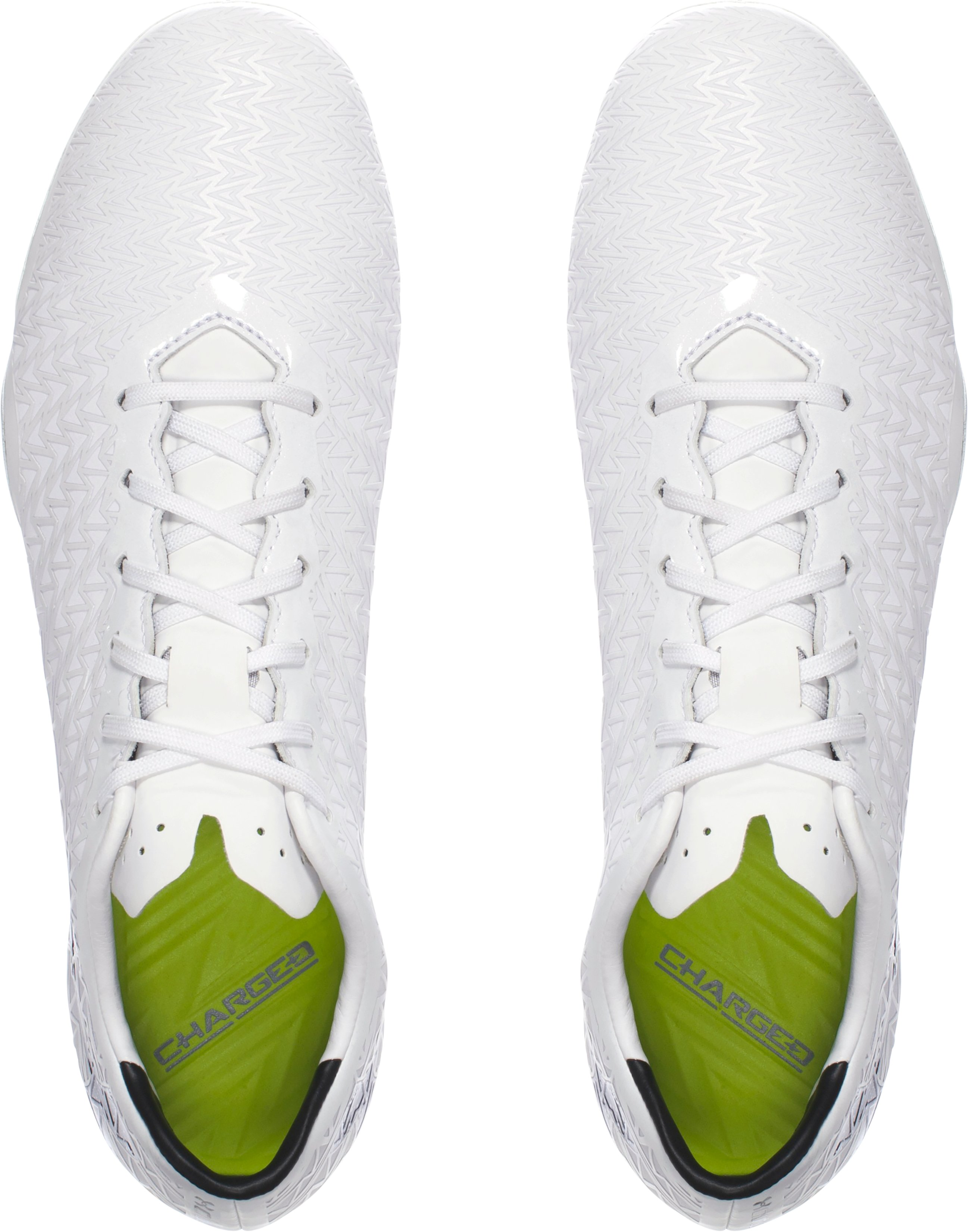 Men's UA ClutchFit® Force 3.0 Hybrid Soccer Cleats, White, undefined