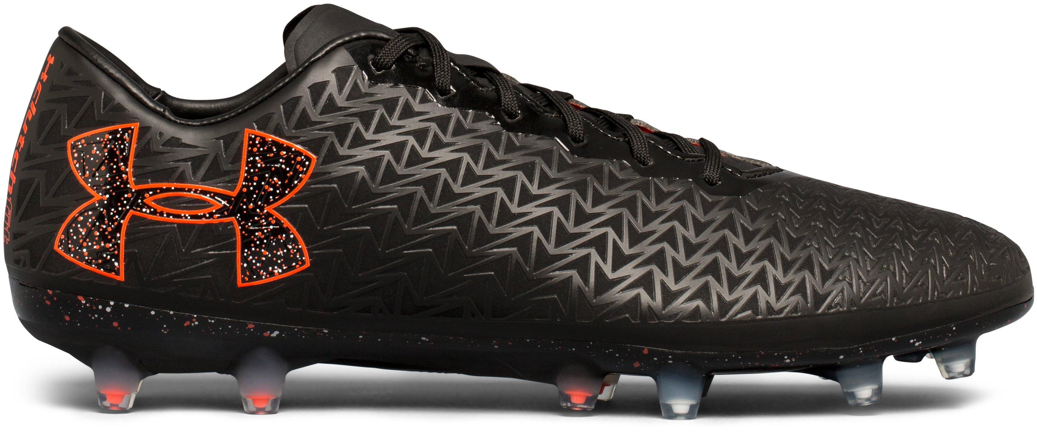 Men's UA ClutchFit® Force 3.0 FG Soccer Cleats, Black , zoomed image