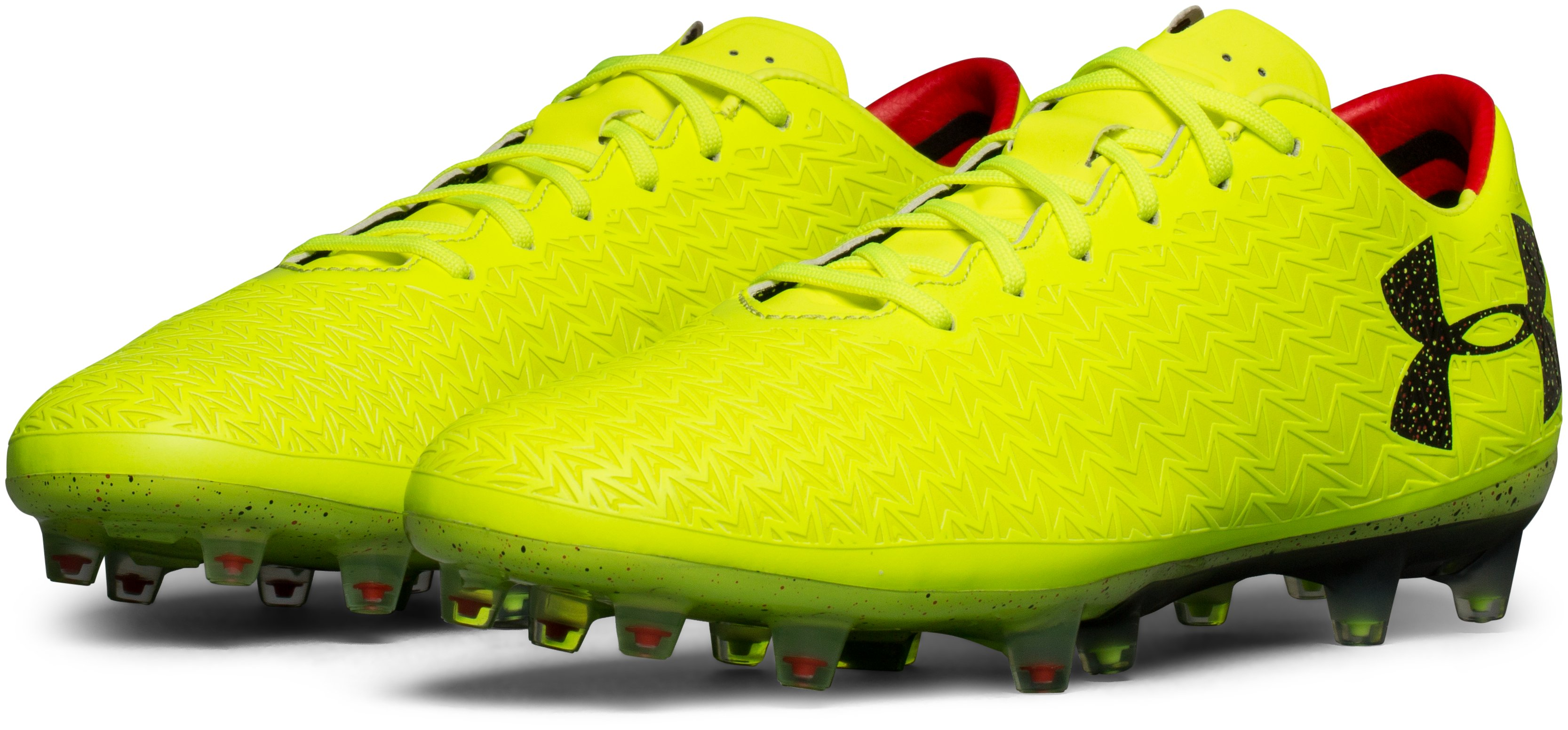 Men's UA ClutchFit® Force 3.0 FG Soccer Cleats, High-Vis Yellow, undefined