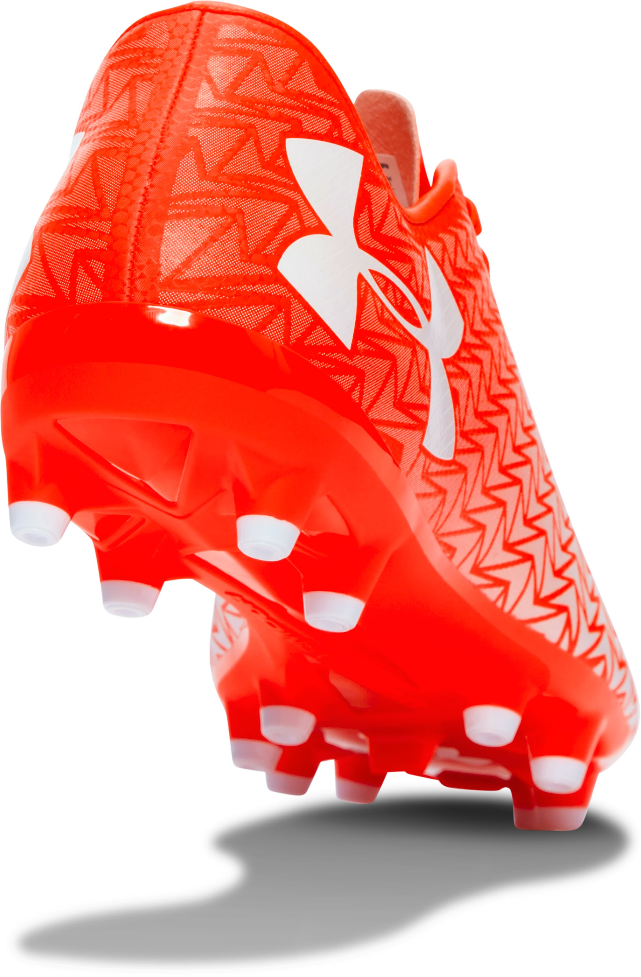 Men's UA CF Force 3.0 FG Soccer Cleats, NEON CORAL,