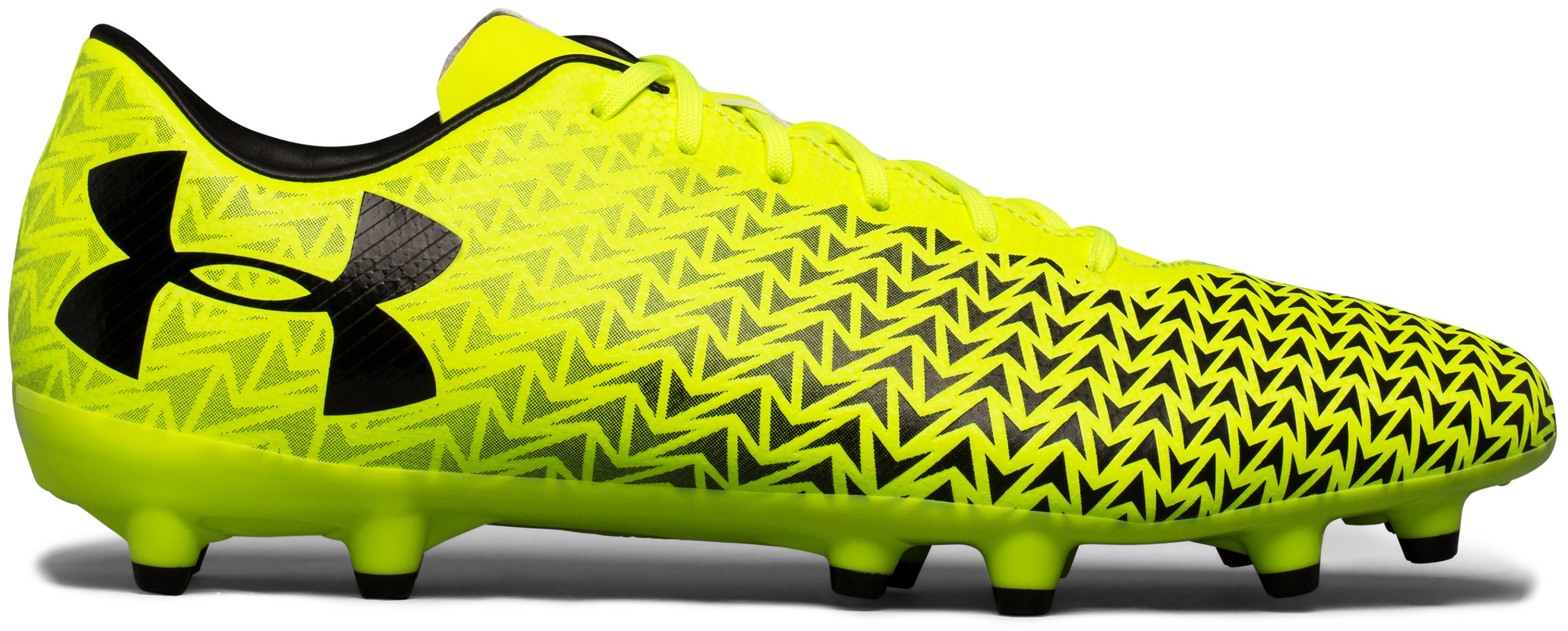 Men's UA CF Force 3.0 FG Soccer Cleats, High-Vis Yellow