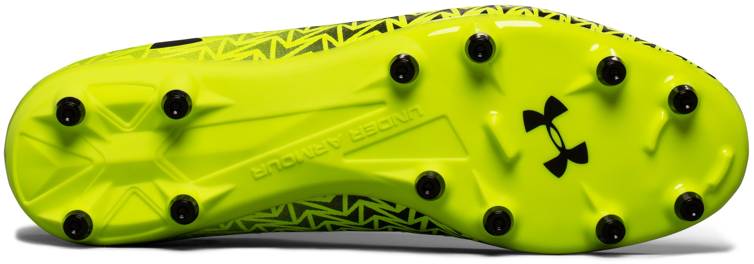 Men's UA CF Force 3.0 FG Soccer Cleats, High-Vis Yellow,