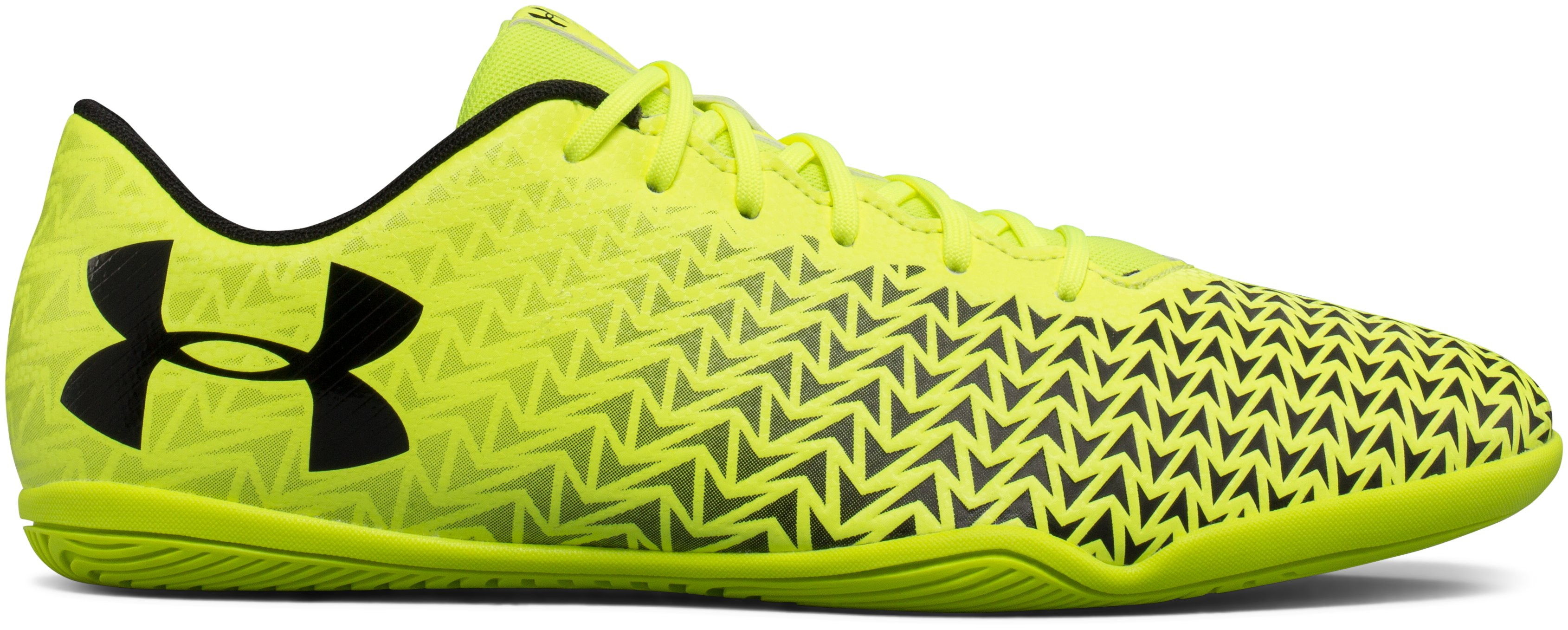 Men's UA CF Force 3.0 Indoor Soccer Shoes, High-Vis Yellow