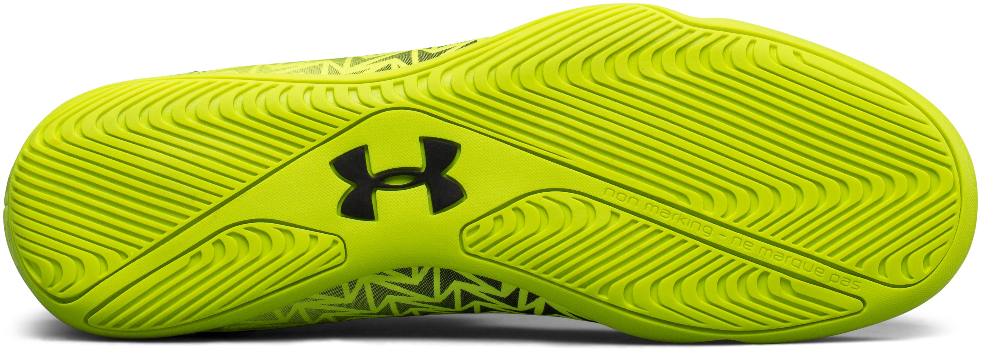 Men's UA CF Force 3.0 Indoor Soccer Shoes, High-Vis Yellow,
