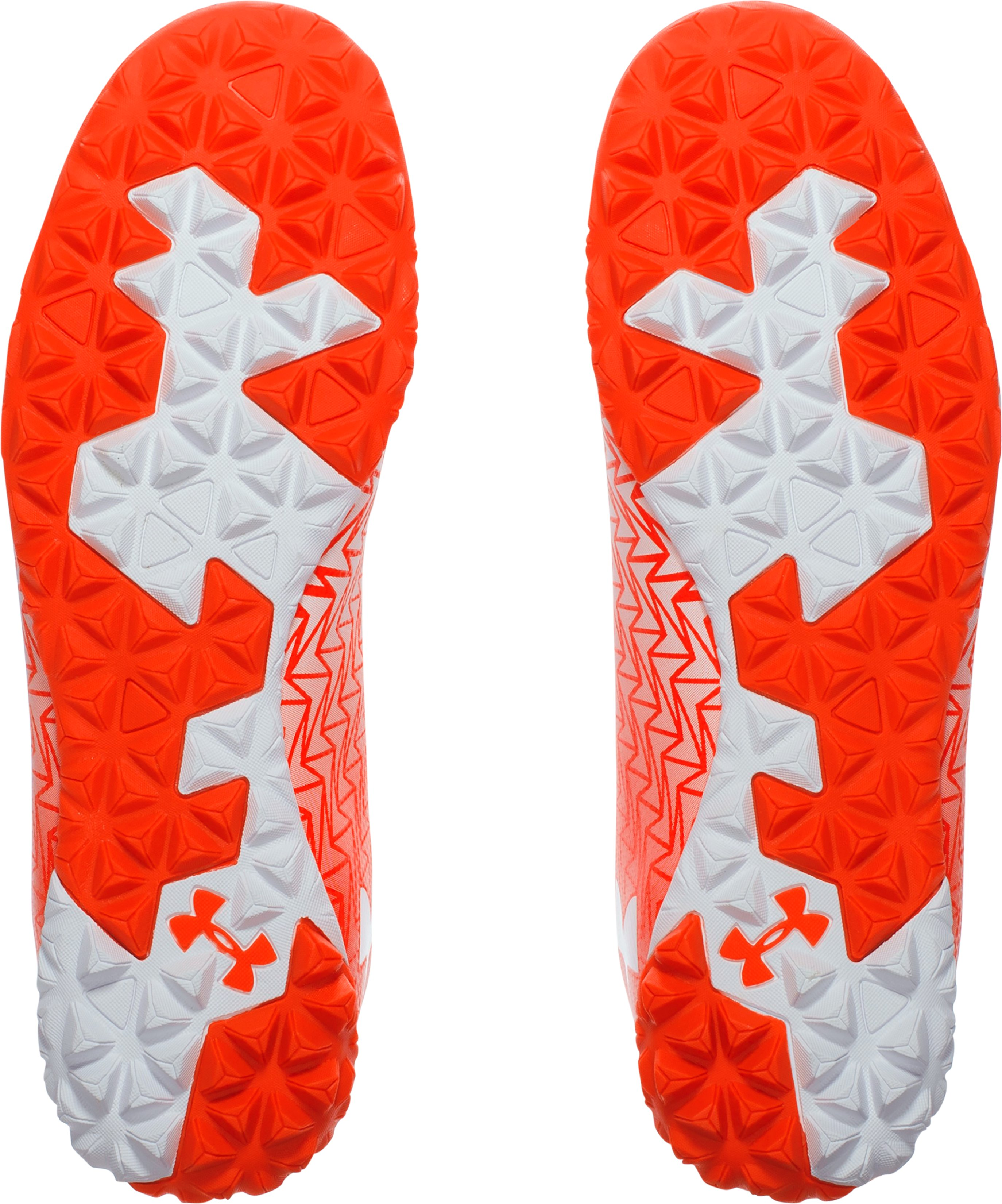 Men's UA CF Force 3.0 Turf Soccer Shoes, NEON CORAL, undefined