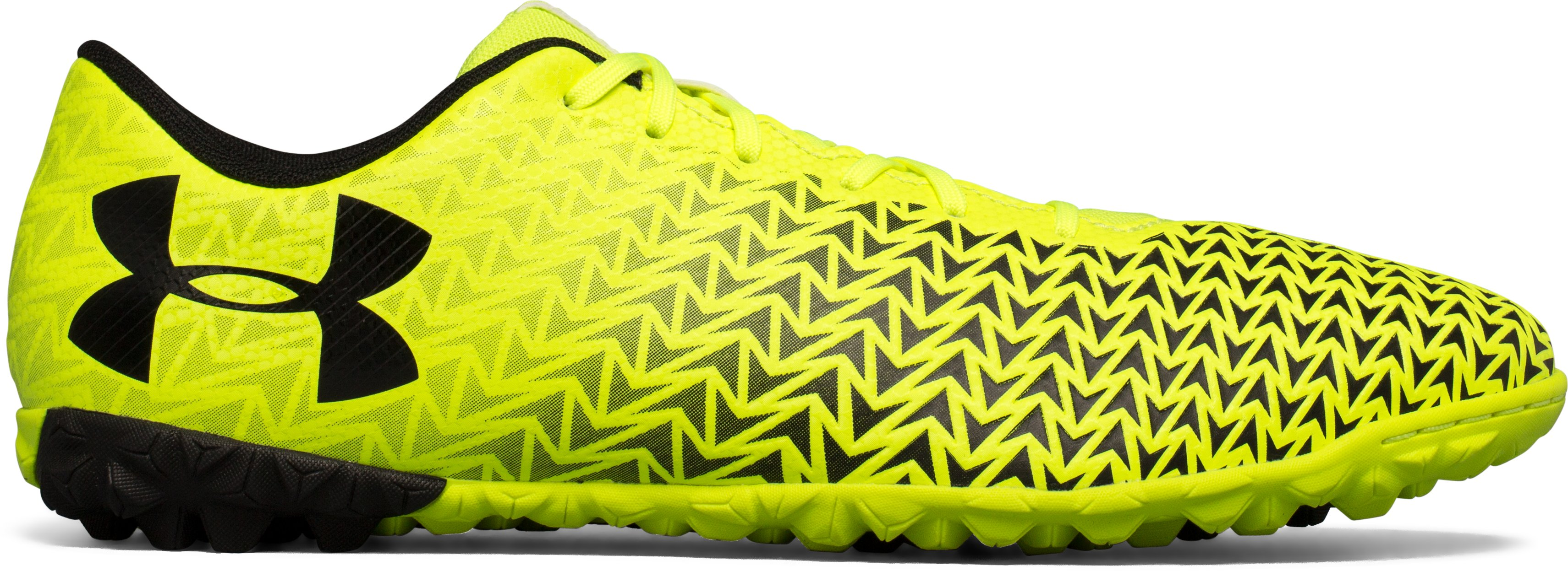 Men's UA CF Force 3.0 Turf Soccer Shoes, High-Vis Yellow