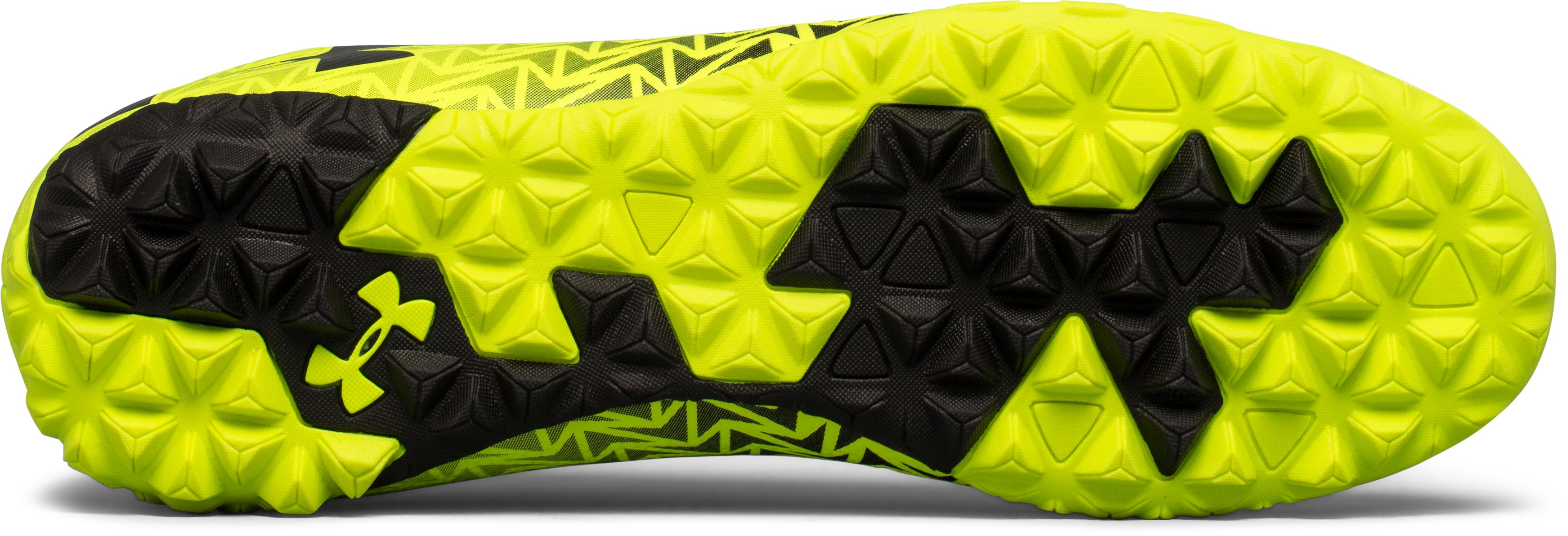 Men's UA CF Force 3.0 Turf Soccer Shoes, High-Vis Yellow,