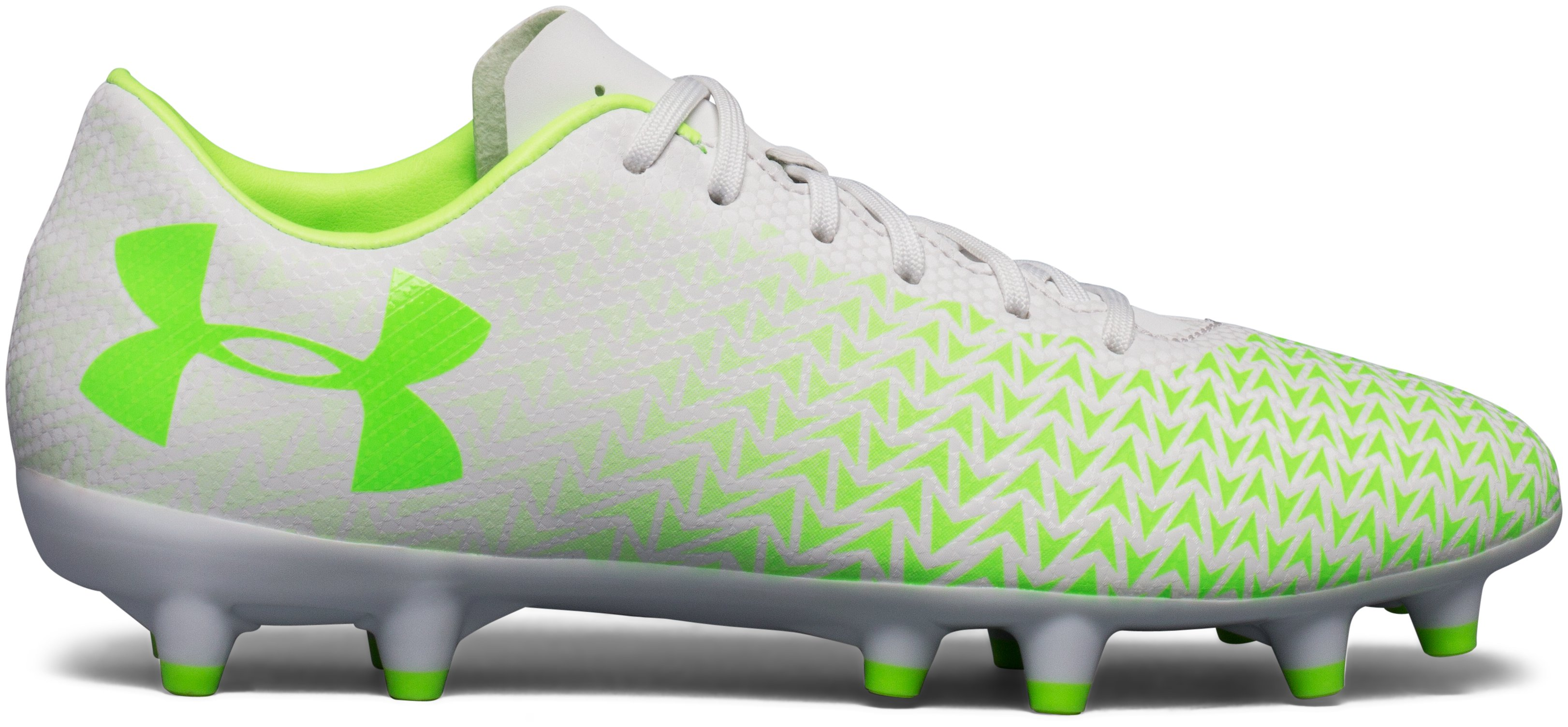Women's UA CF Force 3.0 FG Soccer Cleats, LIME LIGHT