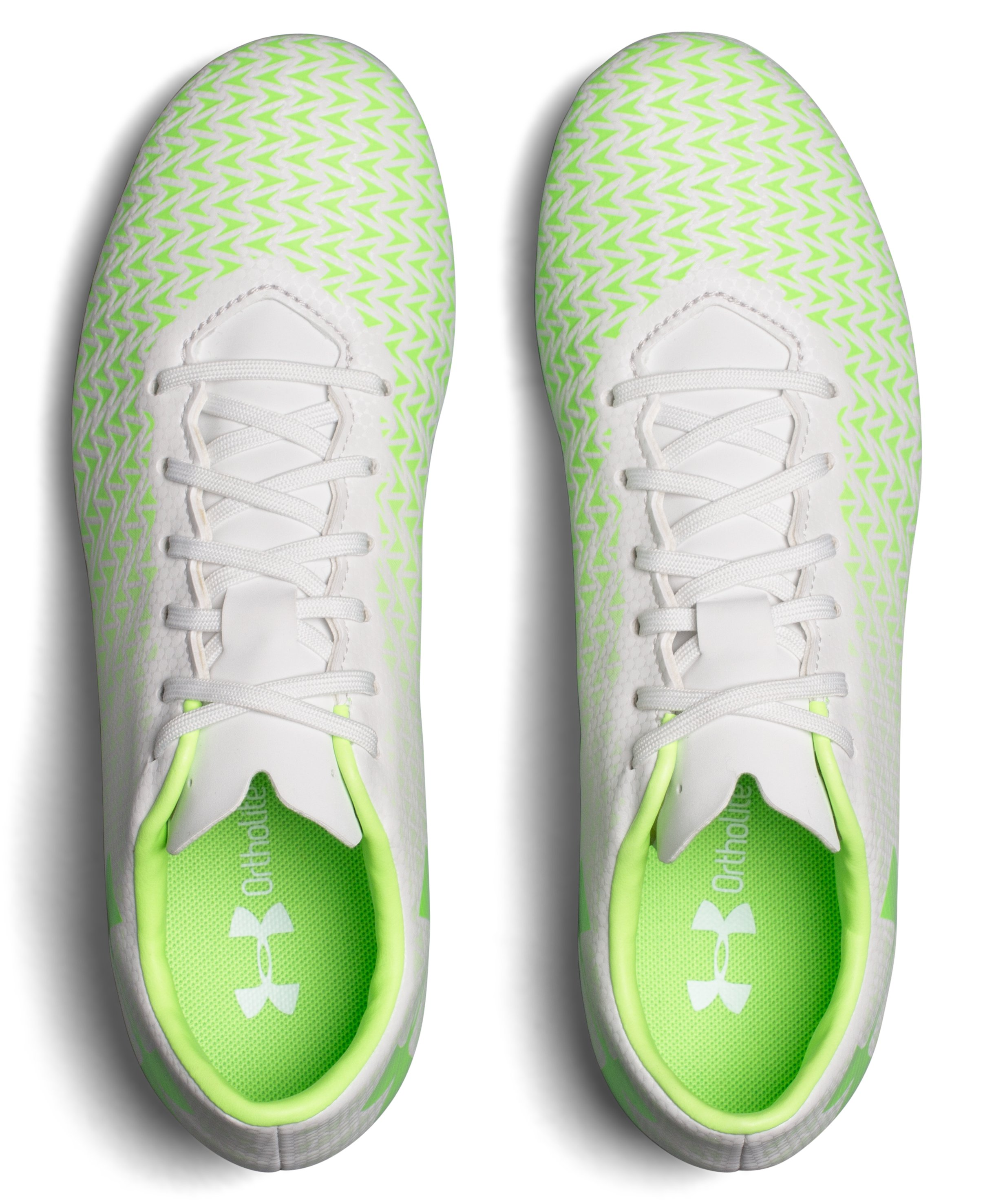 Women's UA CF Force 3.0 FG Soccer Cleats, LIME LIGHT, undefined