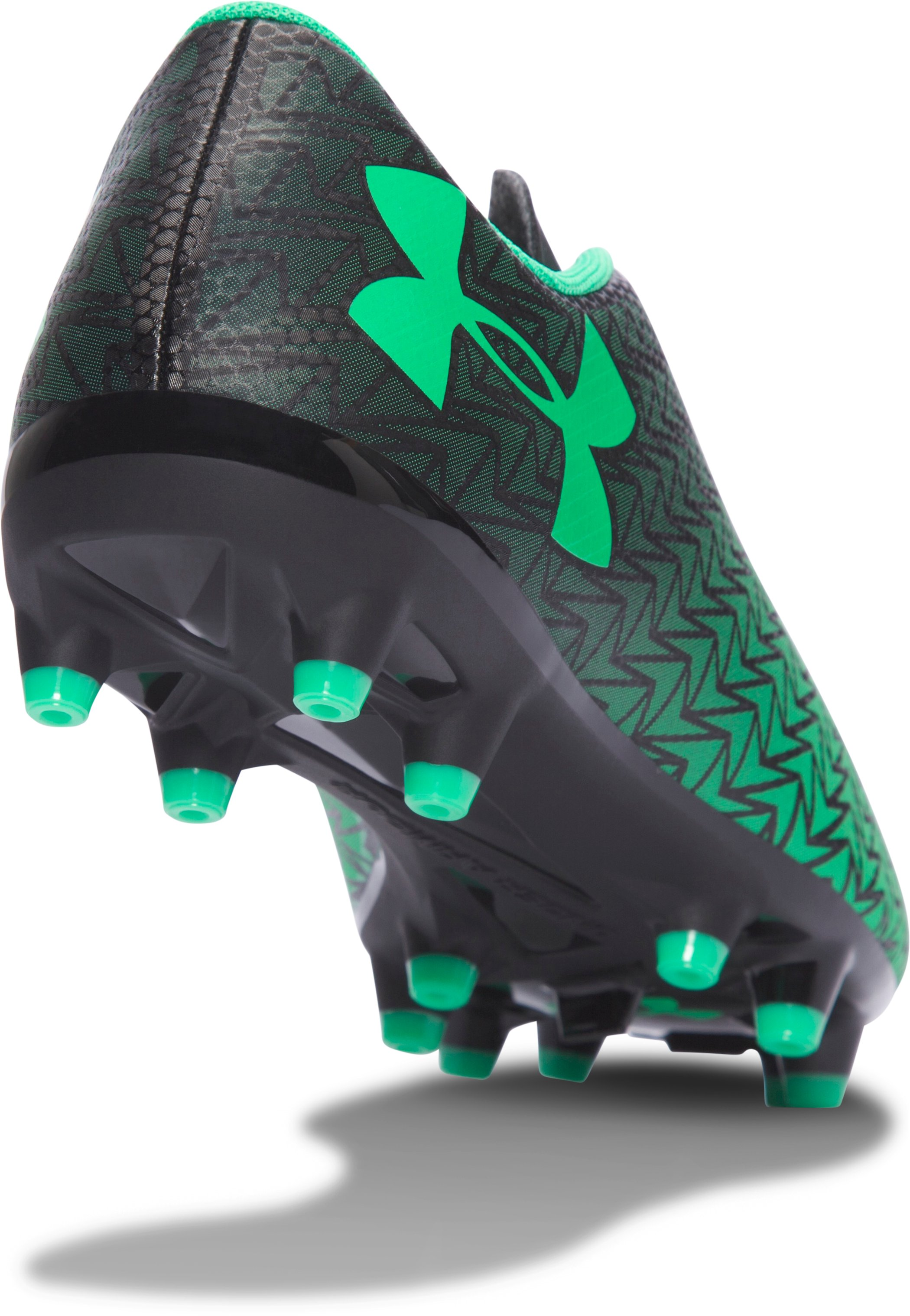 Boys' UA CF Force 3.0 FG Jr. Soccer Cleats, Black ,