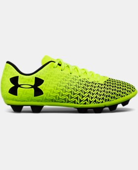 Boys' UA CF Force 3.0 FG Rubber Molded Jr. Soccer Cleats   $26.24