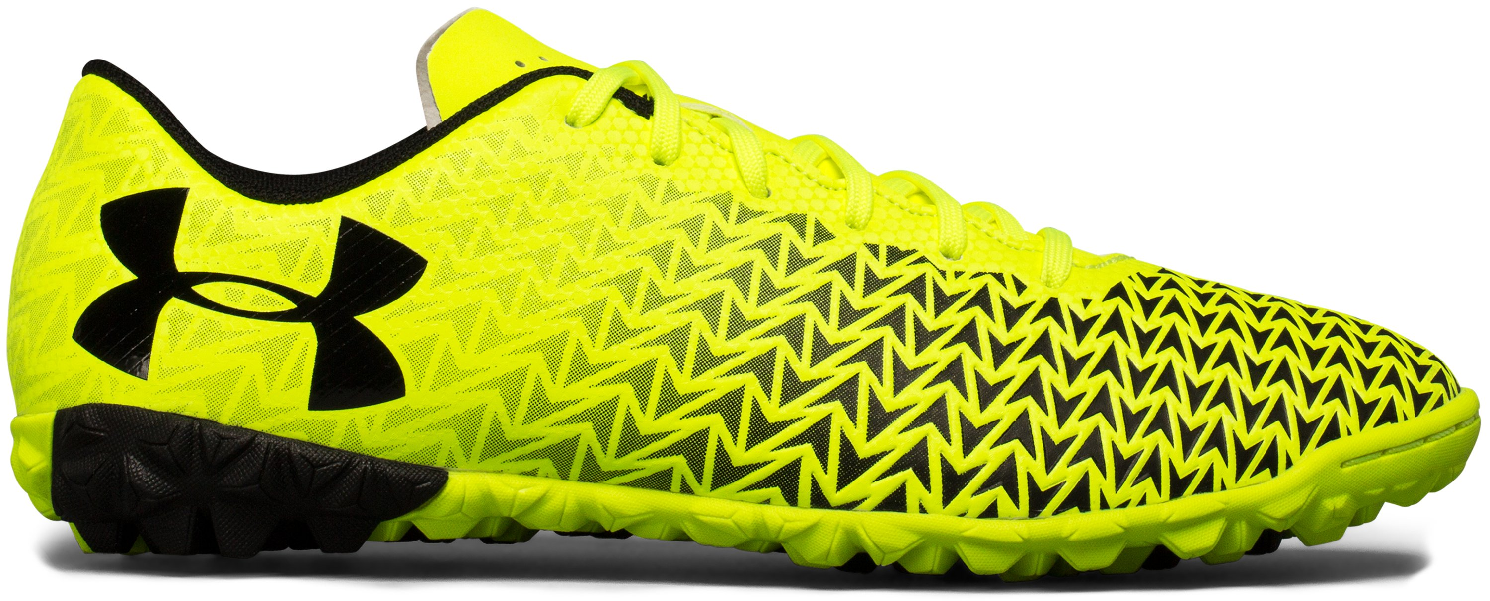 Boys' UA CF Force 3.0 Turf Jr. Soccer Shoes, High-Vis Yellow
