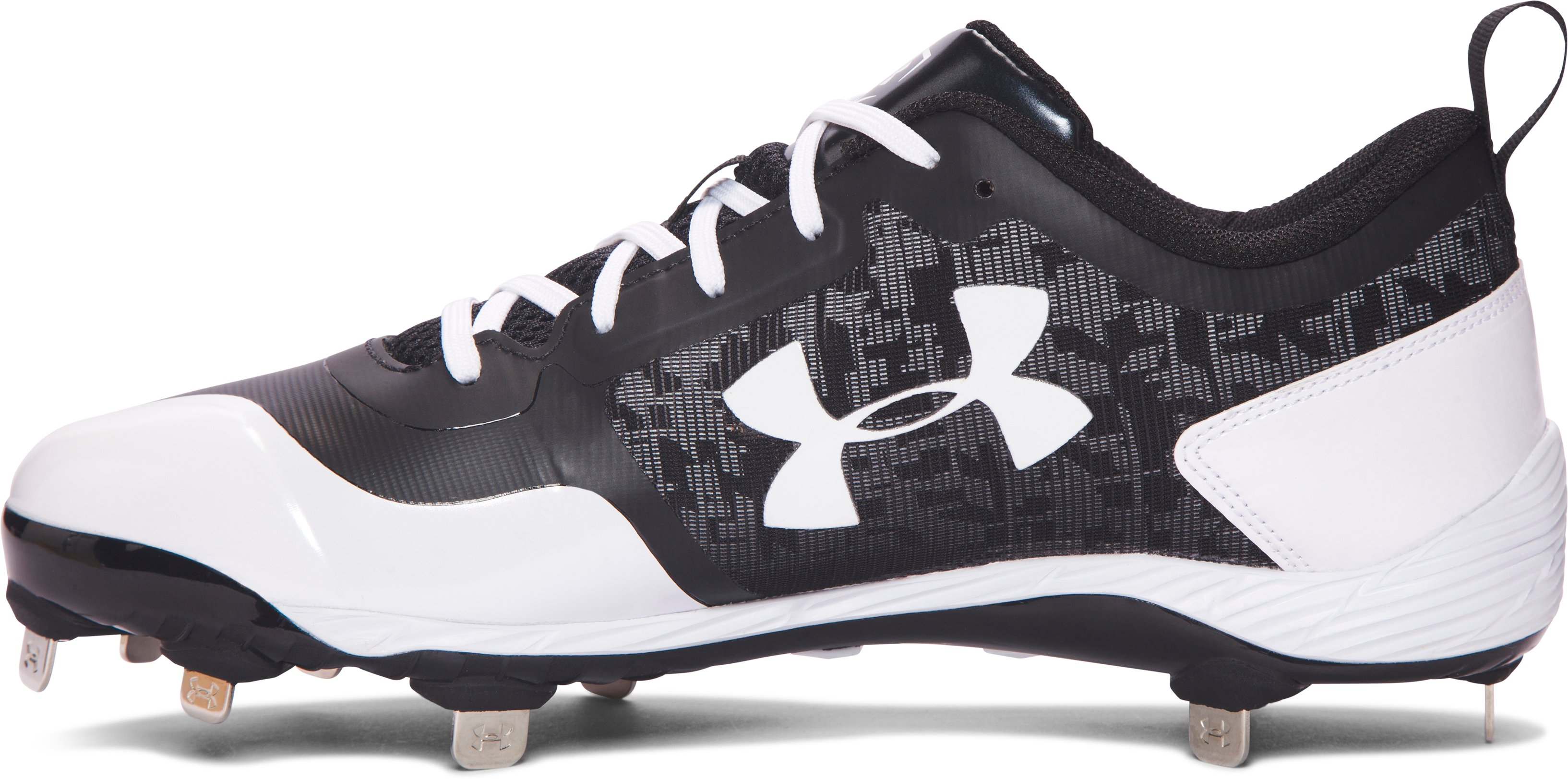 Men's UA Heater Low ST Baseball Cleats, Black ,