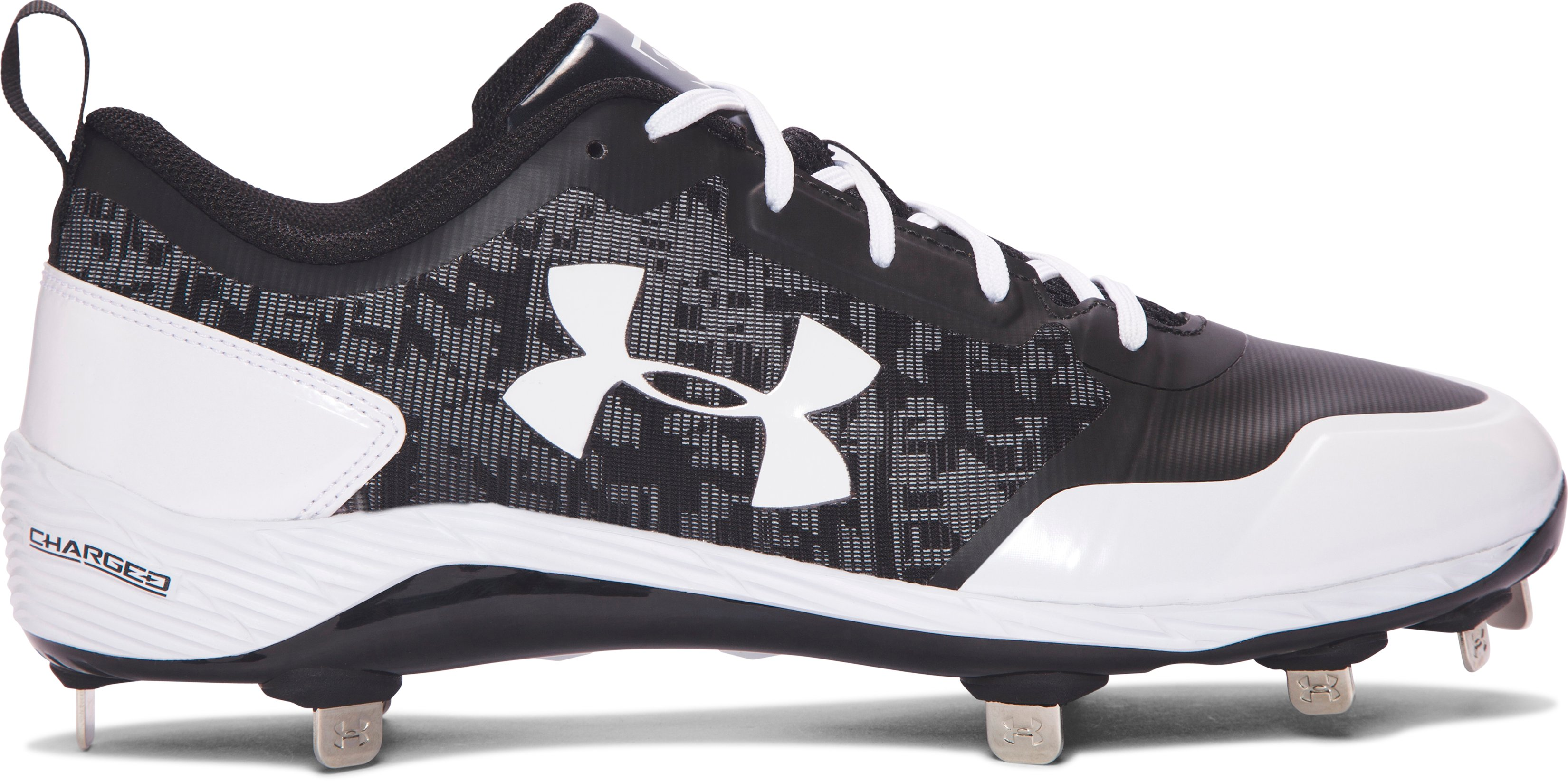 Men's UA Heater Low ST Baseball Cleats, Black , undefined