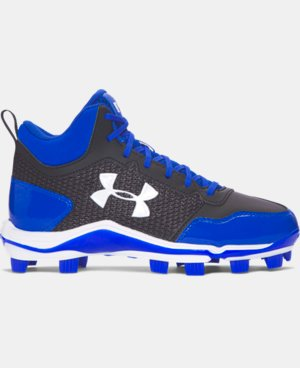 New Arrival Boys' UA Heater Mid TPU Jr. Baseball Cleats   $54.99