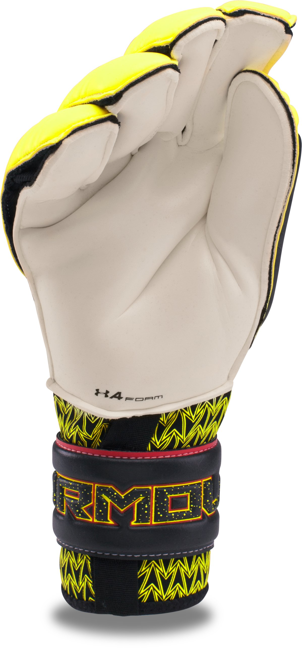 Men's UA Desafio Premier Soccer Gloves, High-Vis Yellow, undefined