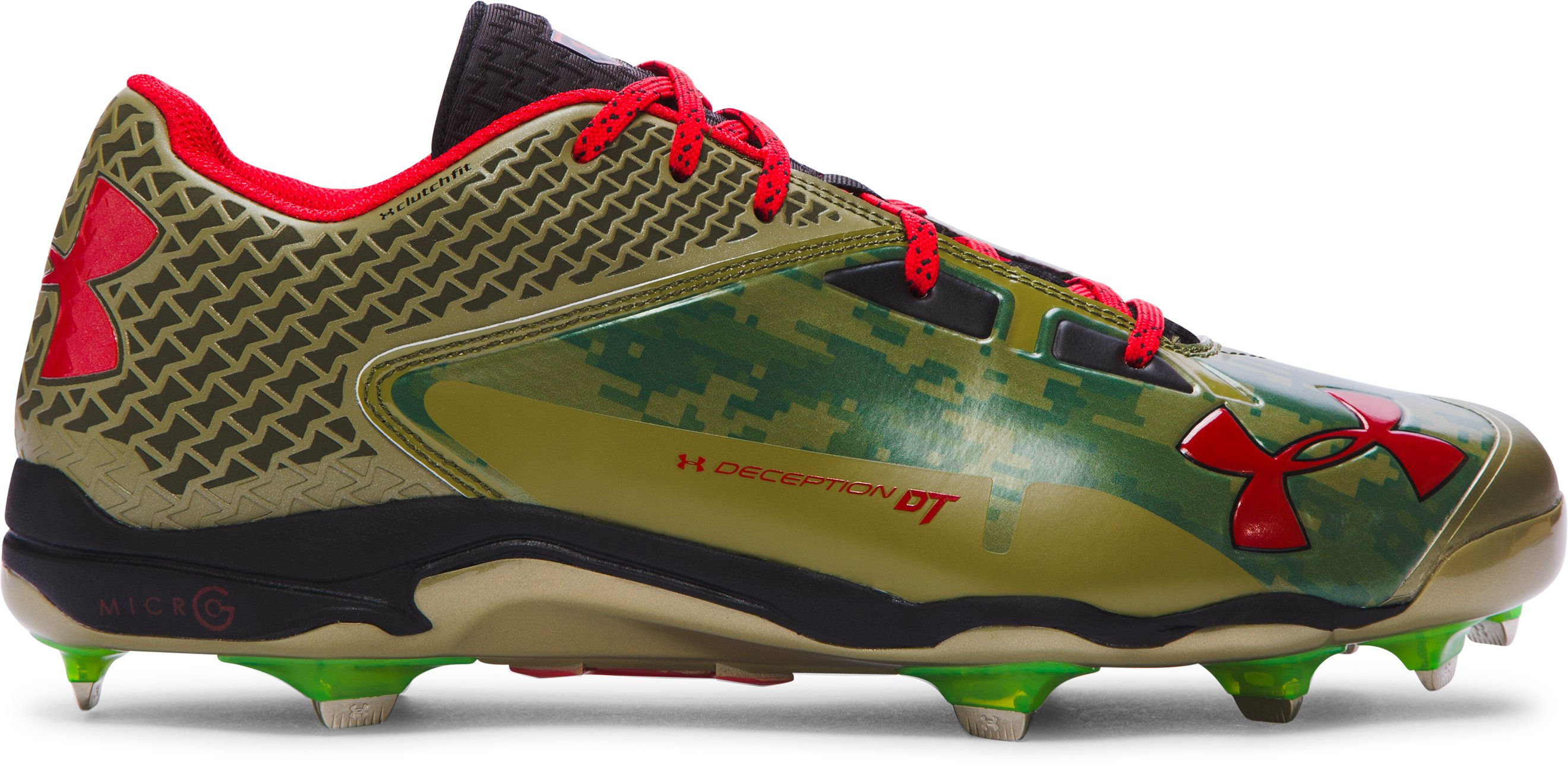 Men's UA Deception Low DiamondTips Baseball Cleats – Mother's Day Edition, Dune, zoomed image