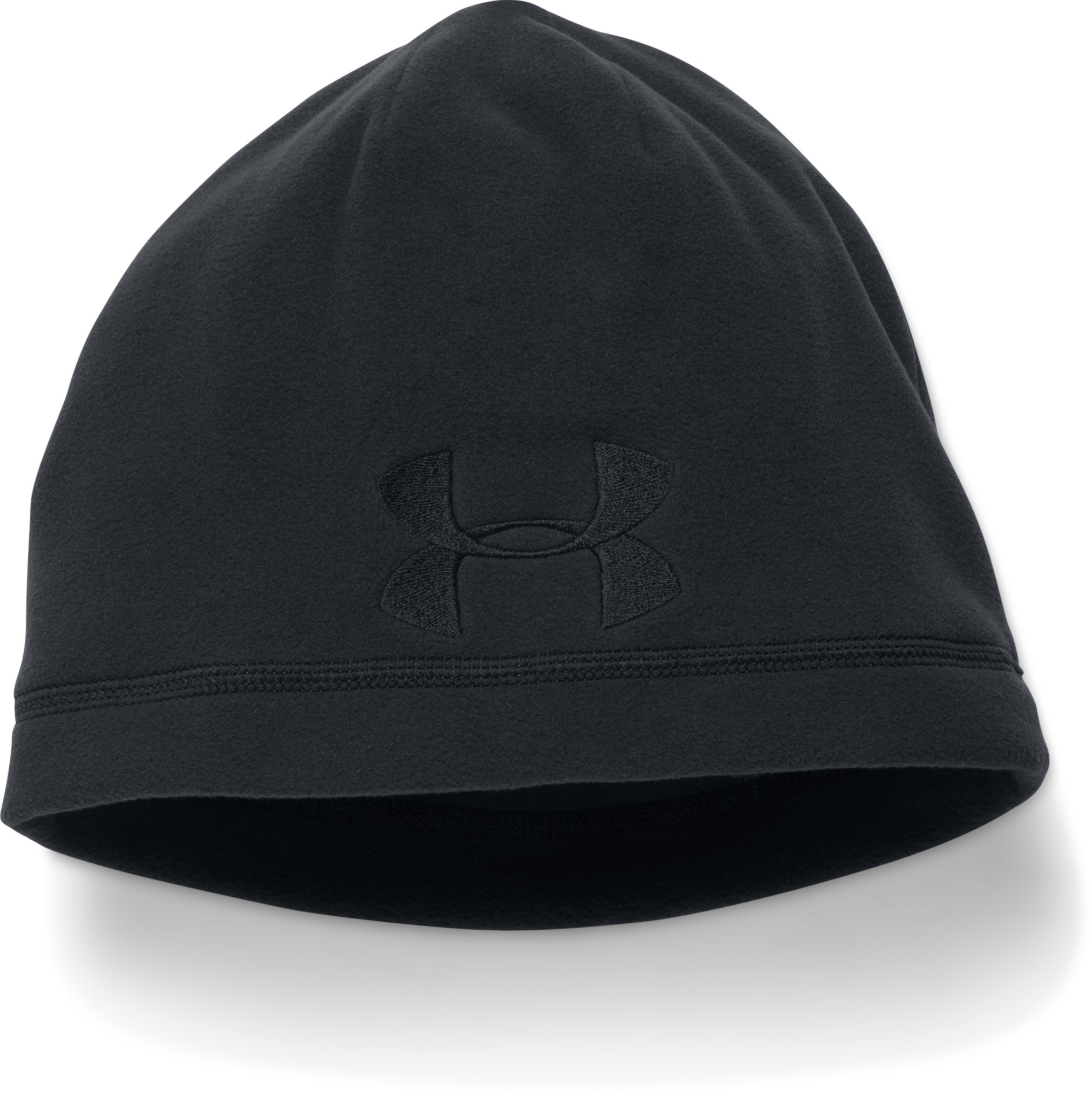 Men's UA Tactical Fleece Beanie, Black , zoomed image