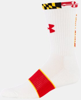 Men's Maryland UA Crew Socks  1 Color $16.99