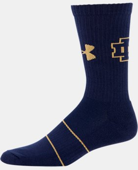 Men's Notre Dame UA Crew Socks LIMITED TIME: FREE U.S. SHIPPING 1 Color $21.99