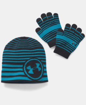 New to Outlet Kids' UA Beanie & Glove Combo Pack  4 Colors $13.49 to $17.24