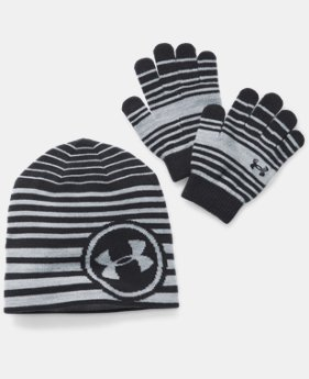 New to Outlet Kids' UA Beanie & Glove Combo Pack  1 Color $22.99