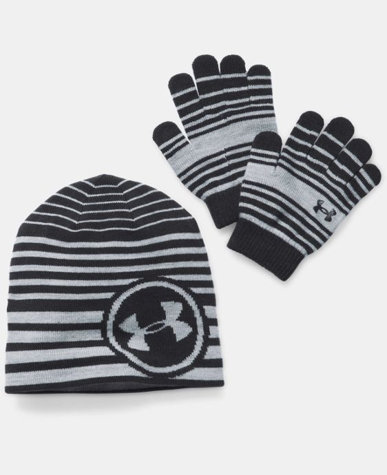 Kids' UA Beanie & Glove Combo Pack LIMITED TIME: FREE U.S. SHIPPING 2 Colors $29.99