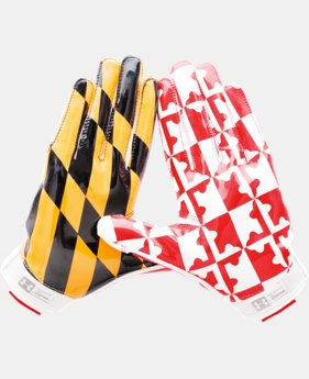 New Arrival Men's UA Swarm II Pipeline State Pack Football Gloves   $49.99