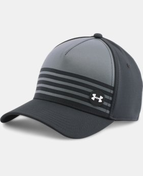 New to Outlet Men's UA Golf Striped Out Cap  1 Color $20.99