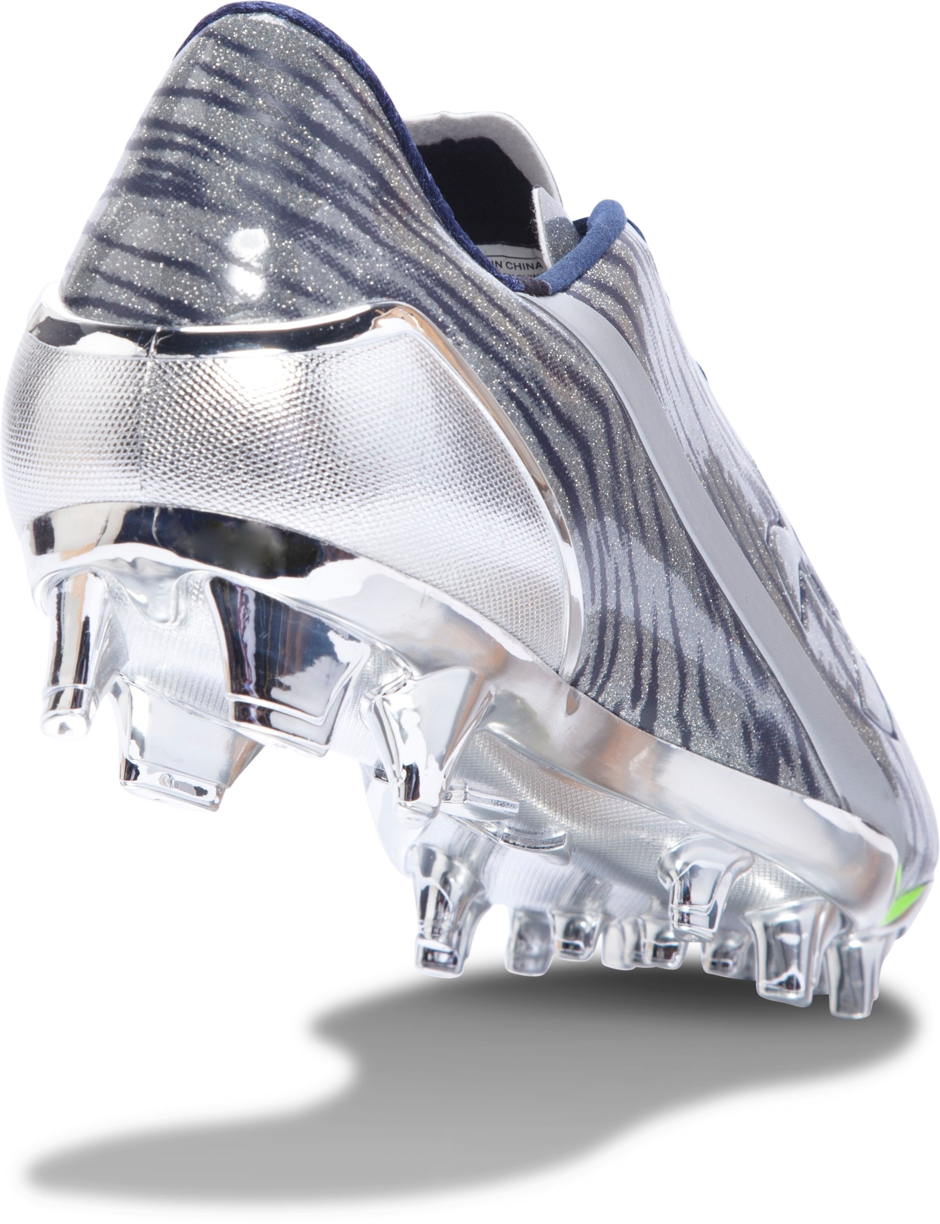 Men's UA Spotlight Football Cleats, Metallic Silver, undefined