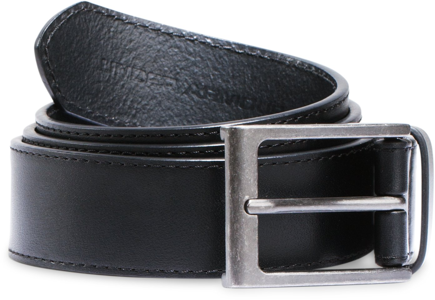 Men's UA Stretch Leather Belt, Black ,