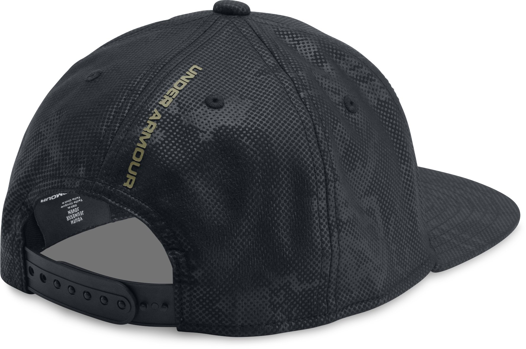 Boys' UA Freedom Snapback Cap, Black ,