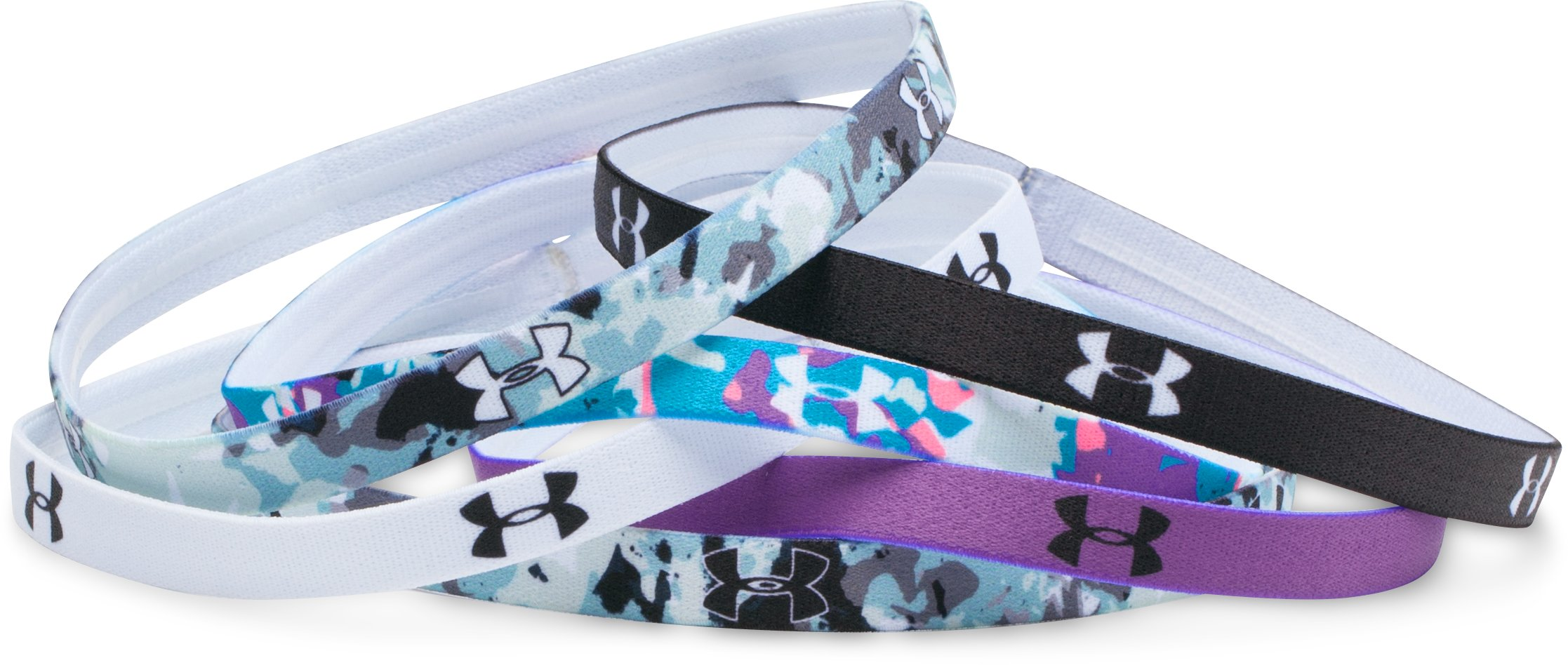 Women's UA Graphic Mini Headbands - 6 Pack, Black , undefined