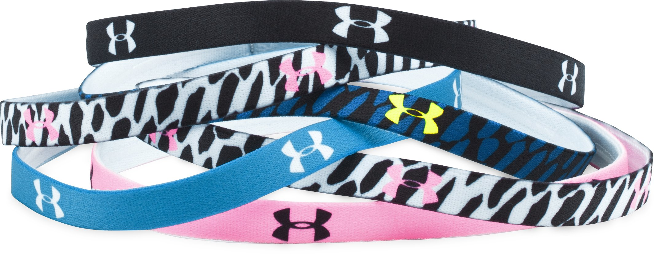 Women's UA Graphic Mini Headbands - 6 Pack, PINK CRAZE, zoomed image