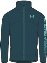 Boys' UA Pennant Warm-Up Jacket, Tourmaline Teal, undefined
