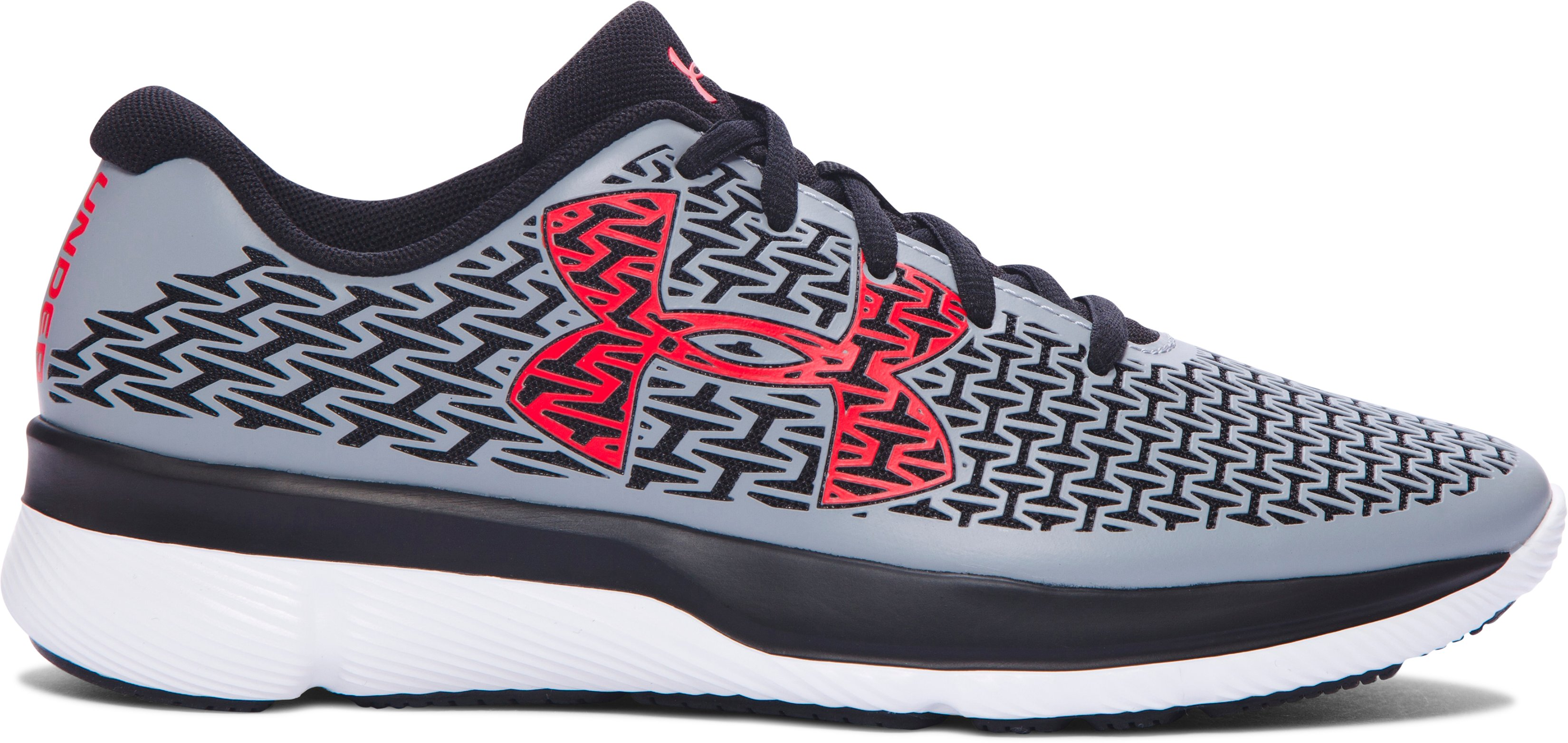 Boys' Grade School UA ClutchFit® RebelSpeed Running Shoes, Steel,