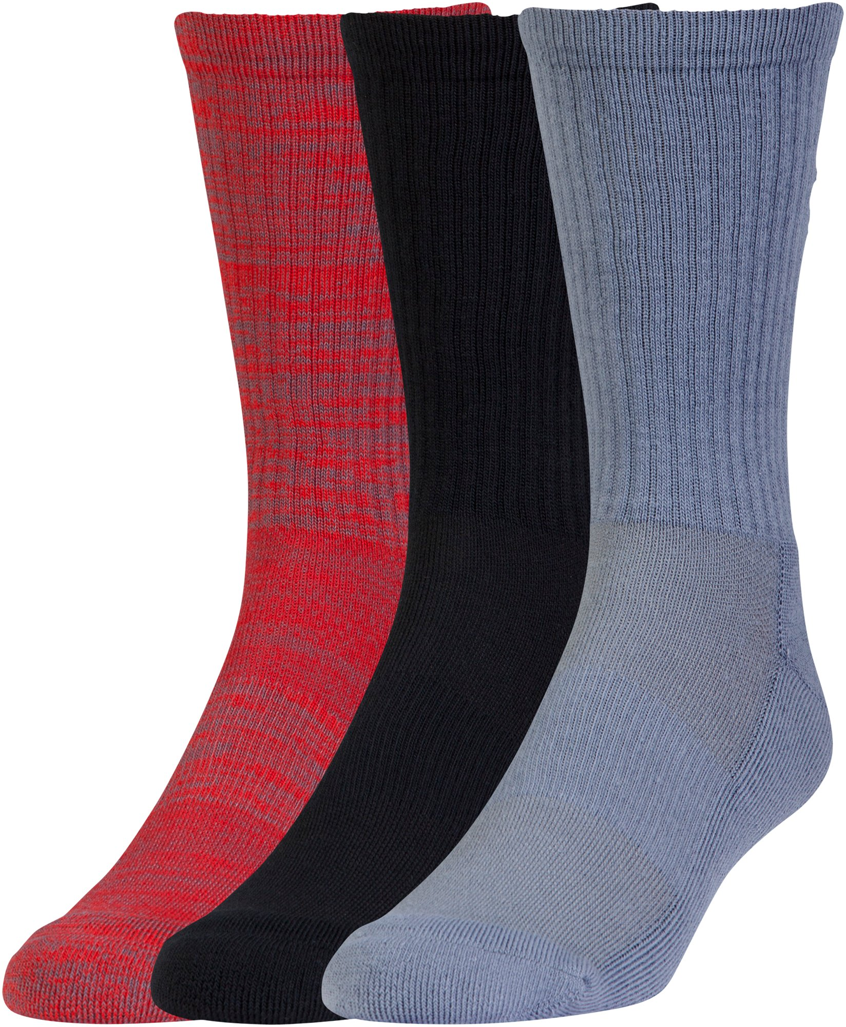 Men's UA Twist Crew Socks 3-Pack, Red, undefined