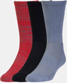 6-Pack Men's UA Twist Crew Socks 3-Pack  1 Color $19.99