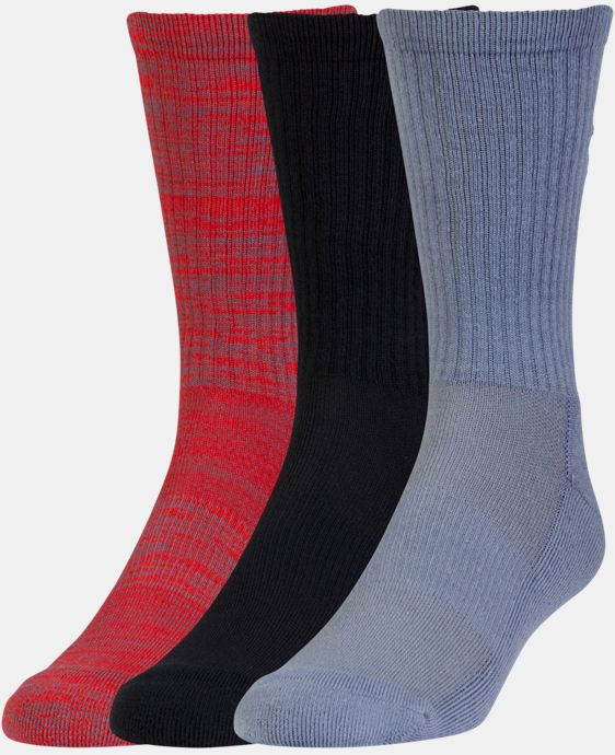 3-Pack Men's UA Twist Crew Socks 3-Pack LIMITED TIME: FREE U.S. SHIPPING 1 Color $19.99