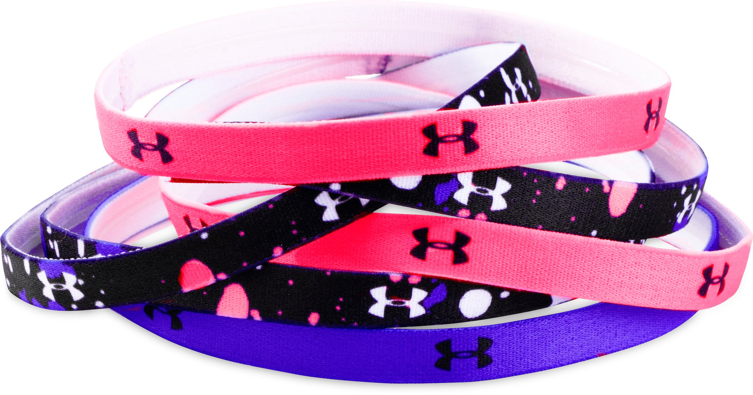 Girls' UA Graphic Headbands - 6 Pack, Black