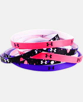 Girls' UA Graphic Headbands - 6 Pack  2 Colors $14.99