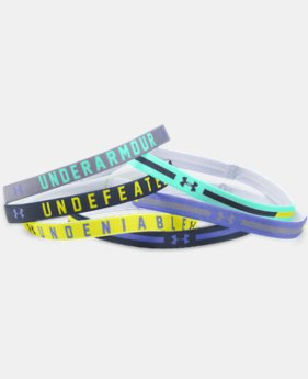 Girls' UA Graphic Headbands - 6 Pack   1 Color $13.99