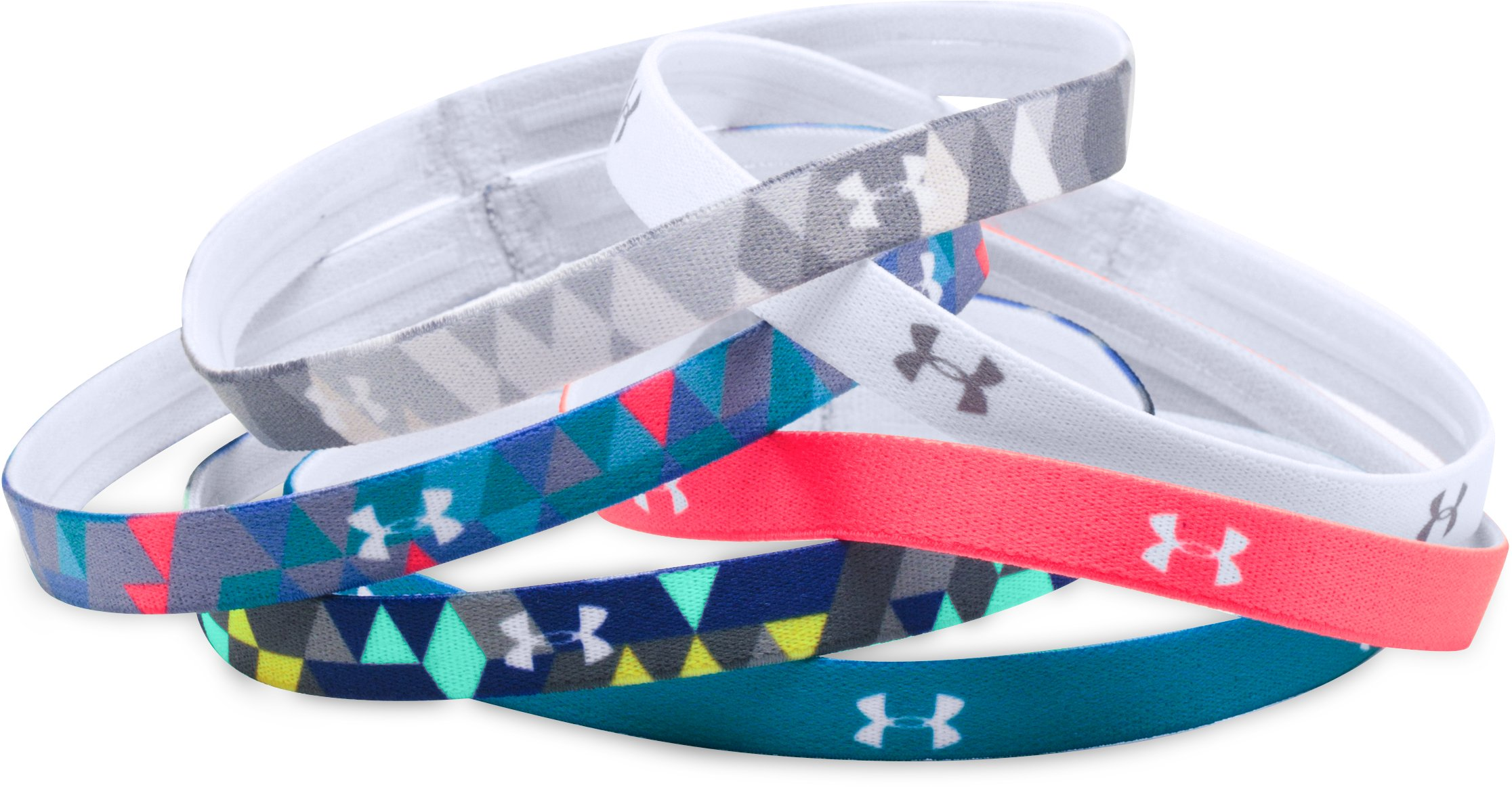 Girls' UA Graphic Headbands - 6 Pack , Elemental, zoomed image
